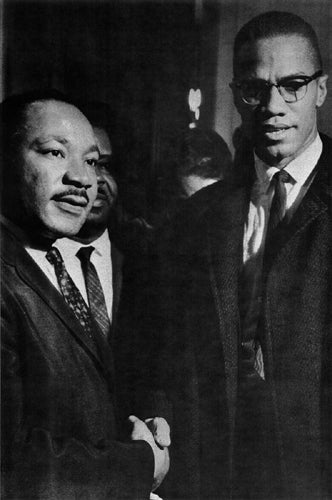 The Meeting: Washington DC March 26 1964 (MLK & Malcolm X) Unknown Art Print Posters & Prints - Beloved Gift Shop