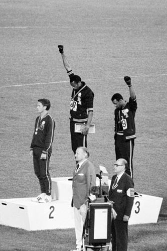Black Power Olympic Medalists Mexico City 1968 | Unknown
