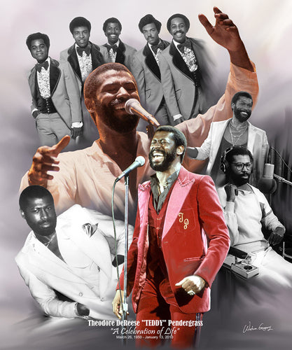 Teddy Pendergrass: A Celebration of Life Wishum Gregory (Mini) Art Print