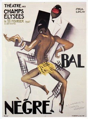 Bal Negre Paul Colin Art Print