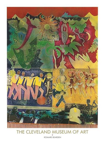 Wrapping it Up at the Lafayette 1974 | Romare Bearden