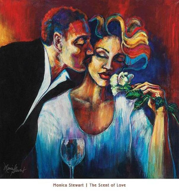 The Scent of Love | Monica Stewart | Black Art | Prints | African American Art | Fine Art | Wall Decor Posters & Prints - Beloved Gift Shop