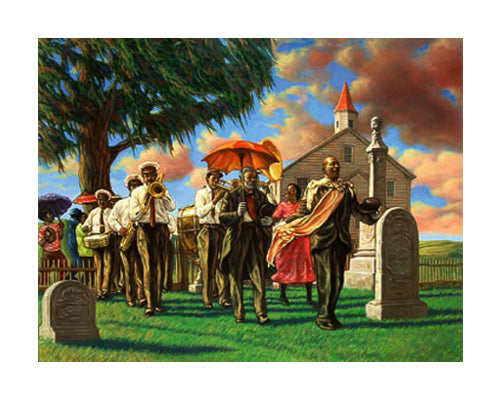Uncle Joe's Funeral Sarah Jenkins Art Print