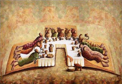 The Lord's Last Supper Okaybabs Art Print