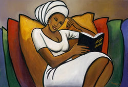 Afternoon Reader Romeo Art Print