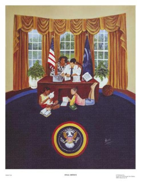 Oval Office Annie Lee Art Print Posters & Prints - Beloved Gift Shop