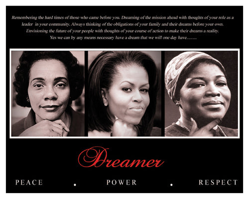 Dreamer Trio Peace Power Respect Art Print Poster Posters & Prints - Beloved Gift Shop