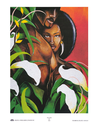 Soul Mate Nico - Marlon Woods (Mini) Art Print