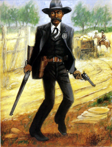 Bass Reeves Marshal (mini) Henry C. Porter Art Print Posters & Prints - Beloved Gift Shop