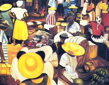Market Scene Bernard Hoyes Art Print Posters & Prints - Beloved Gift Shop