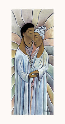 Spiritual Embrace Nathaniel Barnes Art Print Posters & Prints - Beloved Gift Shop