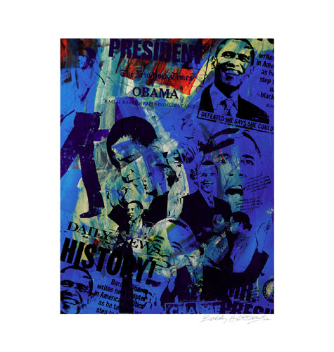 Obama (Blue) Bobby Hill Art Print Posters & Prints - Beloved Gift Shop