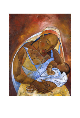 Mother and Child Michael Escoffery Art Print