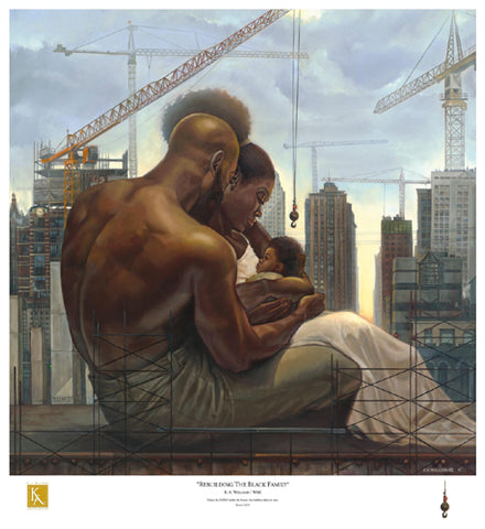 Rebuilding the Black Family 29.5 x 27 - Kevin A. Williams Fine Art Print by WAK – Kevin A. Williams - Beloved Gift Shop