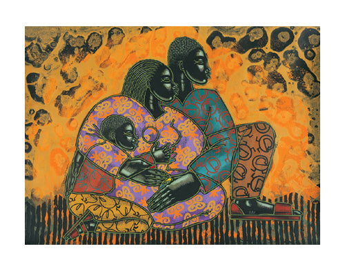 Sankofa Spirit Larry Poncho Brown Art Print Posters & Prints - Beloved Gift Shop