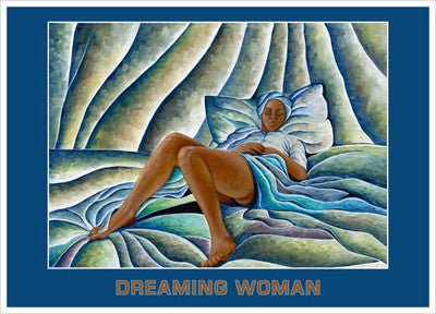 Dreaming Woman Magnet Afrocentric Gifts - Beloved Gift Shop