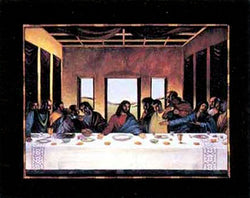 Black Last Supper Lionel Talaro Art Print