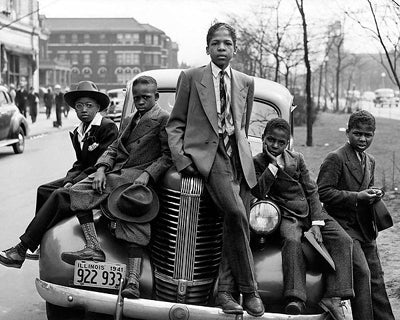 Negro Boys Easter Morning Chicago 1941 McMahan Photo Archive Art Print