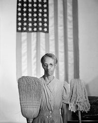 American Gothic Washington DC 1942 (Ella Watson) McMahan Photo Archive Art Print