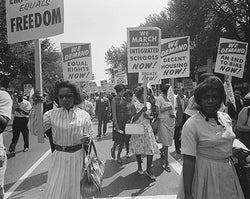 Civil Rights March Washington DC 1963 McMahan Photo Archive Art Print