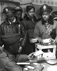 WWII African American Pilots in Italy March 1945 McMahan Photo Archive Art Print