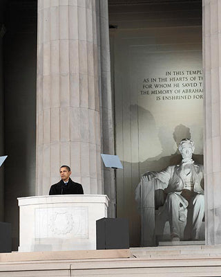 President Barack Obama at Lincoln Memorial 2009 | McMahan