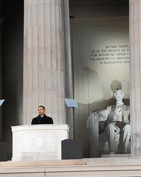 President Barack Obama at Lincoln Memorial 2009 McMahan Photo Archive Art Print