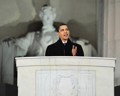 President-Elect Barack Obama Lincoln Memorial Speech January 18 2009 | McMahan