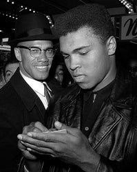 Muhammad Ali and Malcolm X NYC March 1 1964 McMahan Photo Archive Art Print
