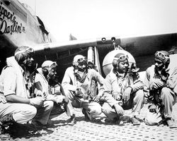 Tuskegee Airmen 332nd Fighter Group Ramitelli Italy WWII McMahan Photo Archive Art Print