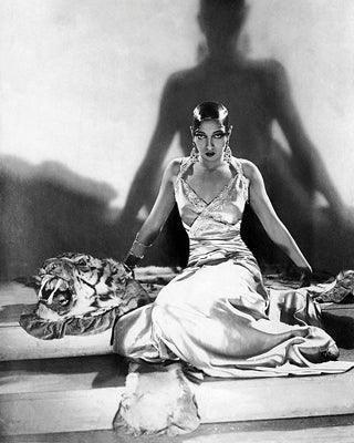 Josephine Baker on Tiger Rug 1925 McMahan Photo Archive Art Print