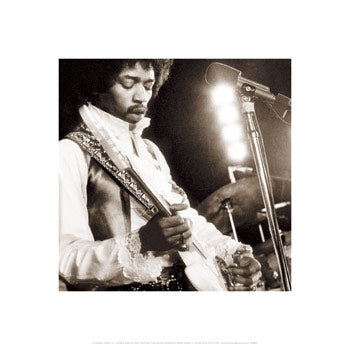 Jimi Hendix: Guitar Unknown Art Print