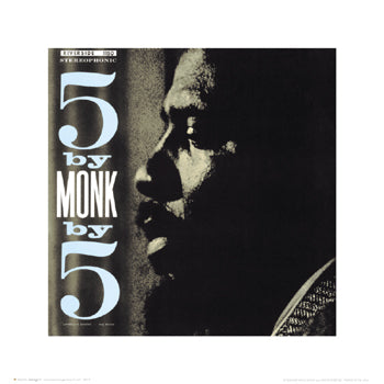 Thelnoious Monk: 5 by Monk by 5 Unknown Art Print