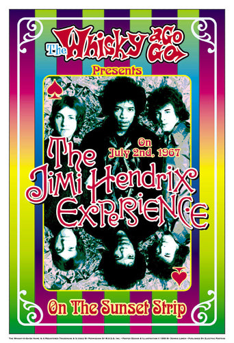 The Jimi Hendrix Experience 1967: Whisky-A-Go-Go Los Angeles Dennis Loren Art Print