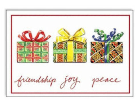 Friendship, Joy, Peace - Carole Joy Christmas Cards by Carole Joy Creations - Beloved Gift Shop