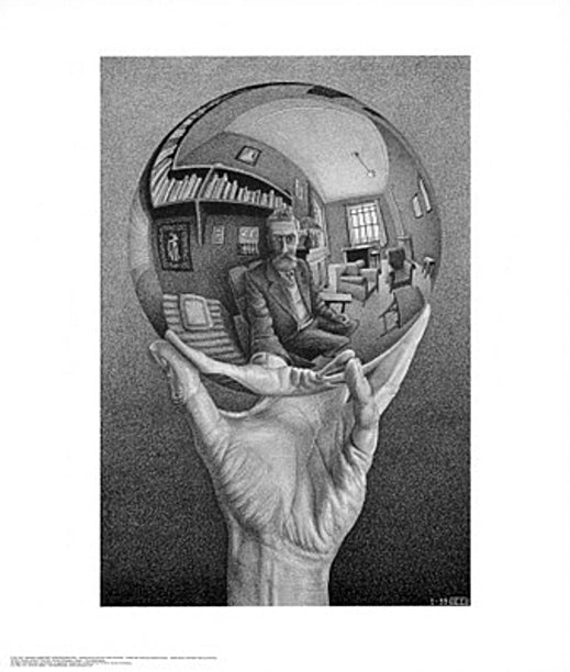 Hand with Globe M.C. Escher Art Print Posters & Prints - Beloved Gift Shop
