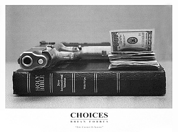 Choices Brian Forbes Art Print Posters & Prints - Beloved Gift Shop
