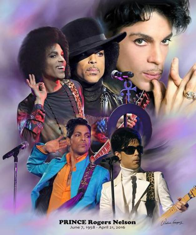 Prince (1958 - 2016) Wishum Gregory Art Print Poster Posters & Prints - Beloved Gift Shop