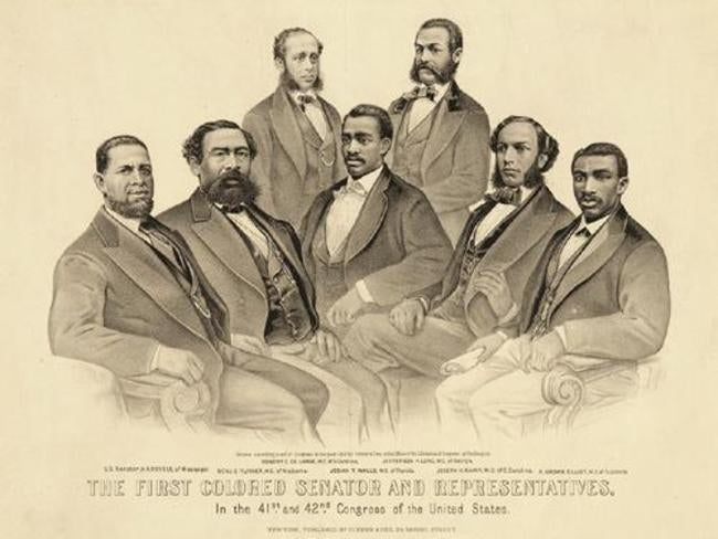 First Colored Senators & Representatives | Nathaniel Currier & James Ives