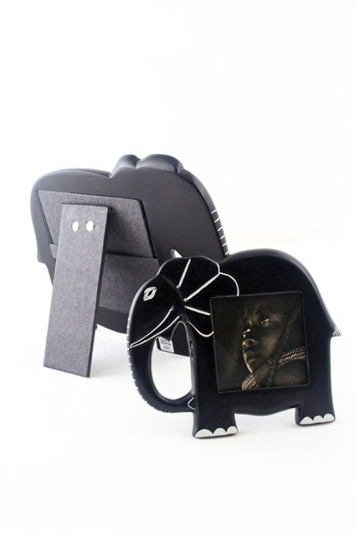 African Soapstone Elephant Picture Frame Picture Frame - Beloved Gift Shop