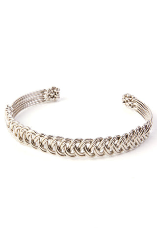 Kenyan Braided Silver Cuff Bracelet by Zawadi Gifts - Beloved Gift Shop