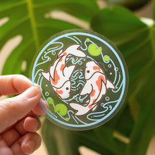 Load image into Gallery viewer, Transparent Koi Fish Pond Vinyl Sticker