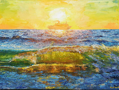 yellow wave painting