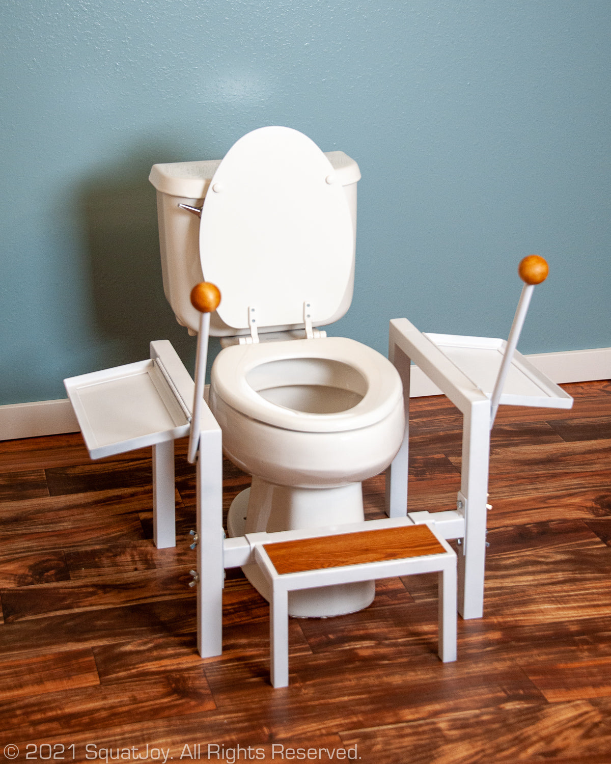 Full squat for toilet seat