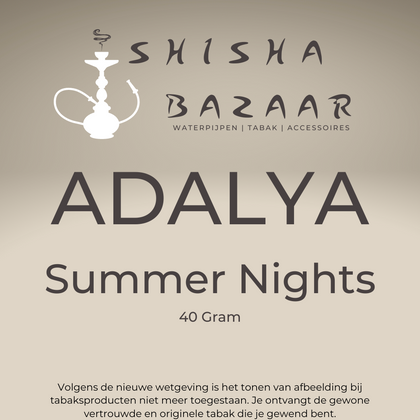 Adalya Summer Nights Waterpijptabak 40 Gram - Shishabazaar