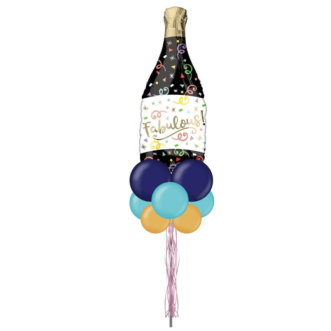 Champagne Bottle Celebration Balloon Yard Display