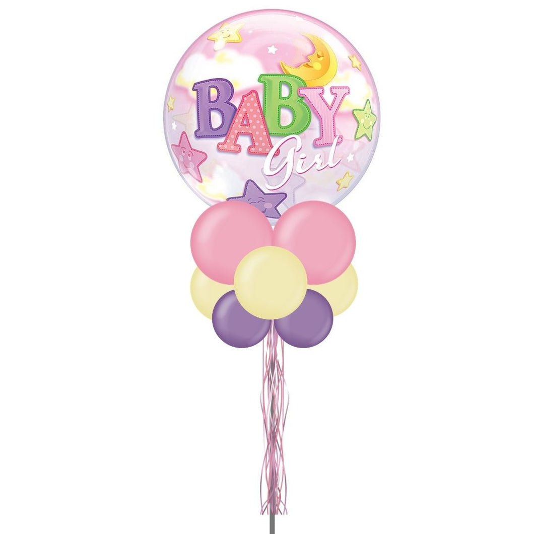 Baby Girl Pastel Balloon Yard Display