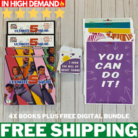 2 Action Books + 2 Coloring Books + Empowerment Notes & Posters Bundle