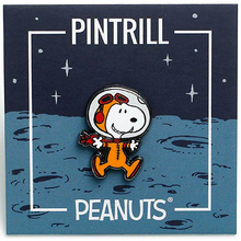 Load image into Gallery viewer, PINTRILL | Peanuts (Snoopy, Charlie Brown, Woodstock Astronaut Pins)