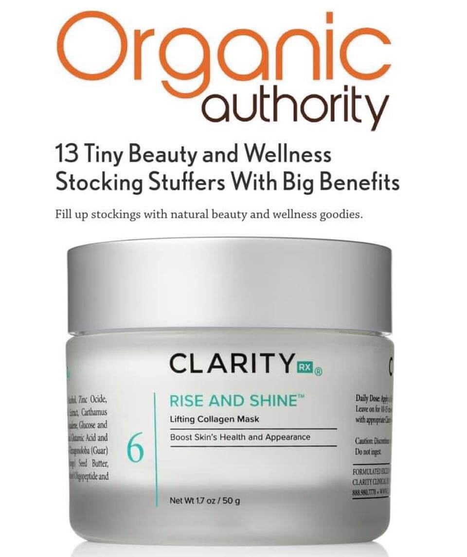 Organic Authority article clipping with Rise and Shine jar